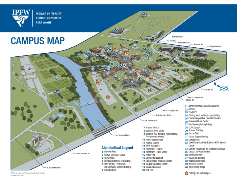 Indiana Campus Map.Ipfw 3d Campus Map Docshare Tips