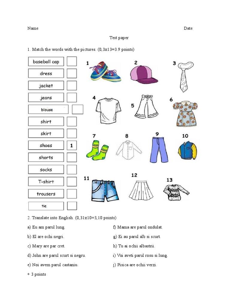 Test Engleza Clasa A V A Docsharetips