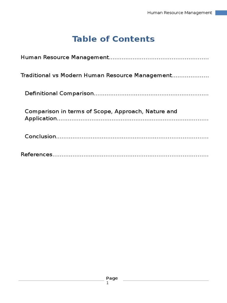 nature of human resource management