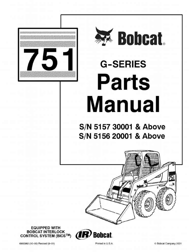 PDF Bobcat 751 Parts Manual Sn 515730001 and Above Sn 515620001 and Above -  DocShare.tips