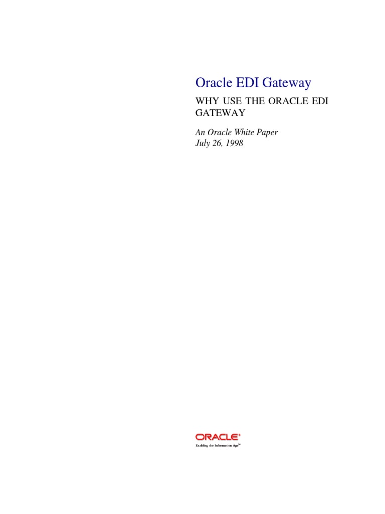 Oracle EDI Gateway - DocShare.tips
