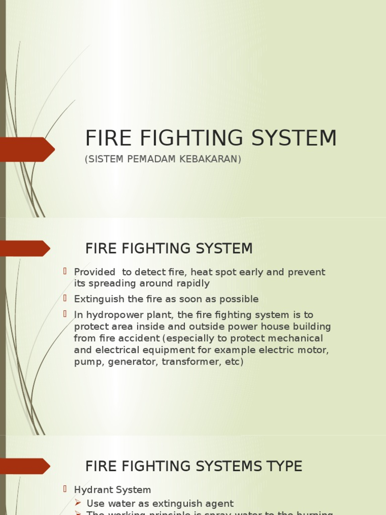 Fire Fighting Ppt