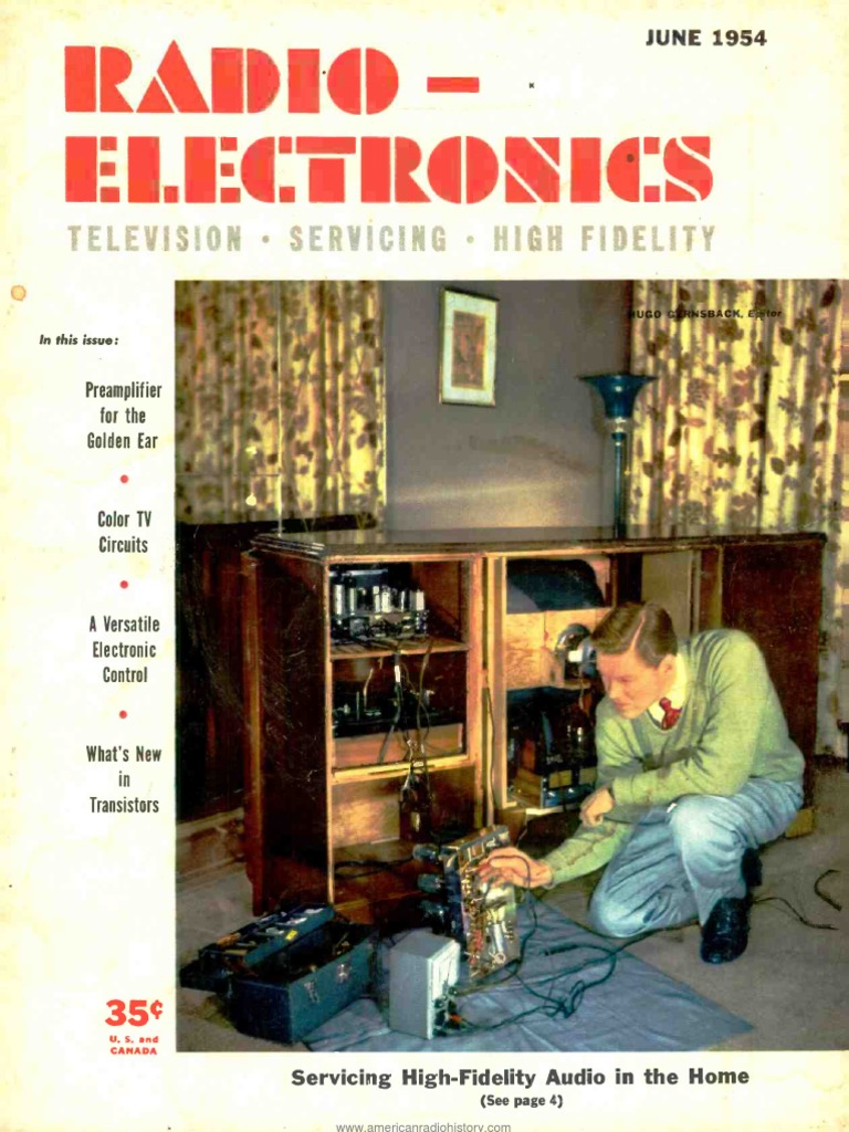 Radio Electronics 1954 06 Glove Compartment Wiring Diagram For 1953 Studebaker Champion And Commander