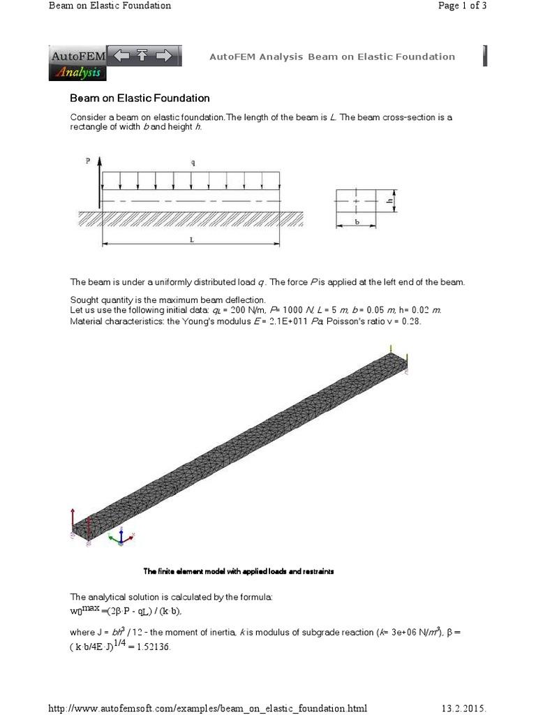 Download Tank Foundation Ring Beam Design Diagram And Formulas Example On Elastic