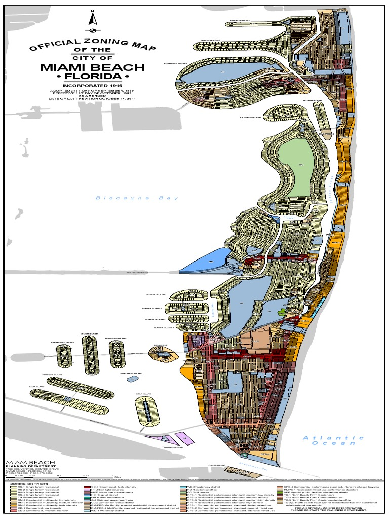 Miami Beach Zoning Map 2012 DocSharetips