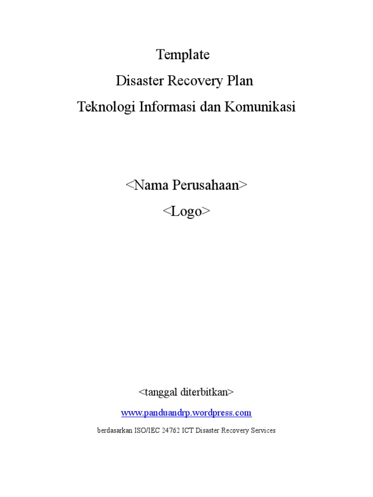 ict disaster recovery plan Disaster recovery planning is a subset of a larger process known as business continuity planning and includes planning for resumption of applications.