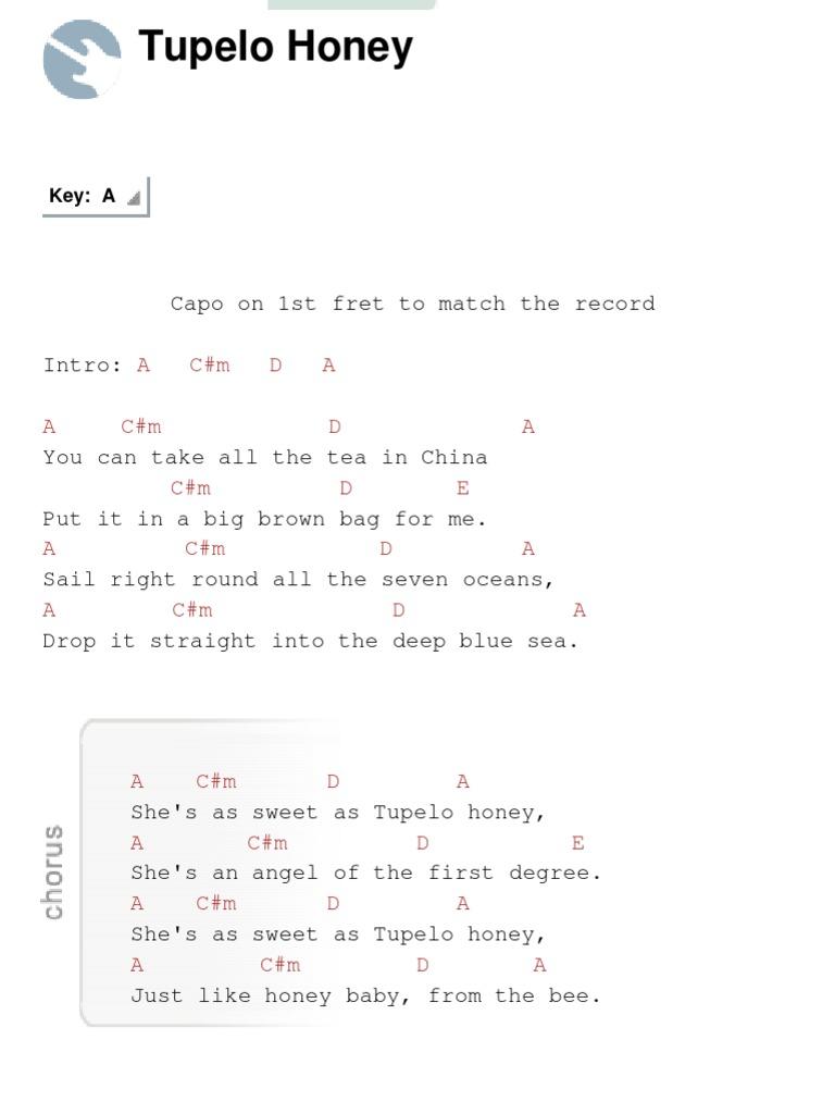 Tupelo Honey Chords By Van Morrison Docshare
