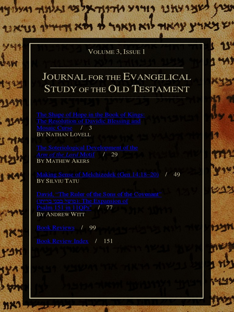 an analysis of the old testament in the bible Old testament research papers discuss the bible and christianity and how the old old testament research paper writing old testament is considered by many an.