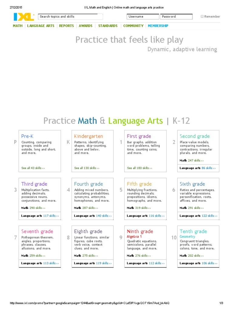 Outstanding Ixl English Grade 1 Illustration - Worksheet Math for ...