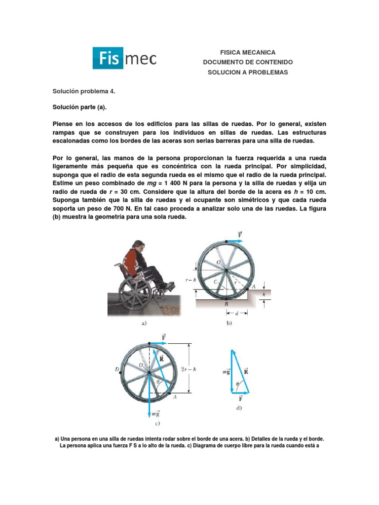 Calculo Para Mover Silla de Ruedas - DocShare.tips