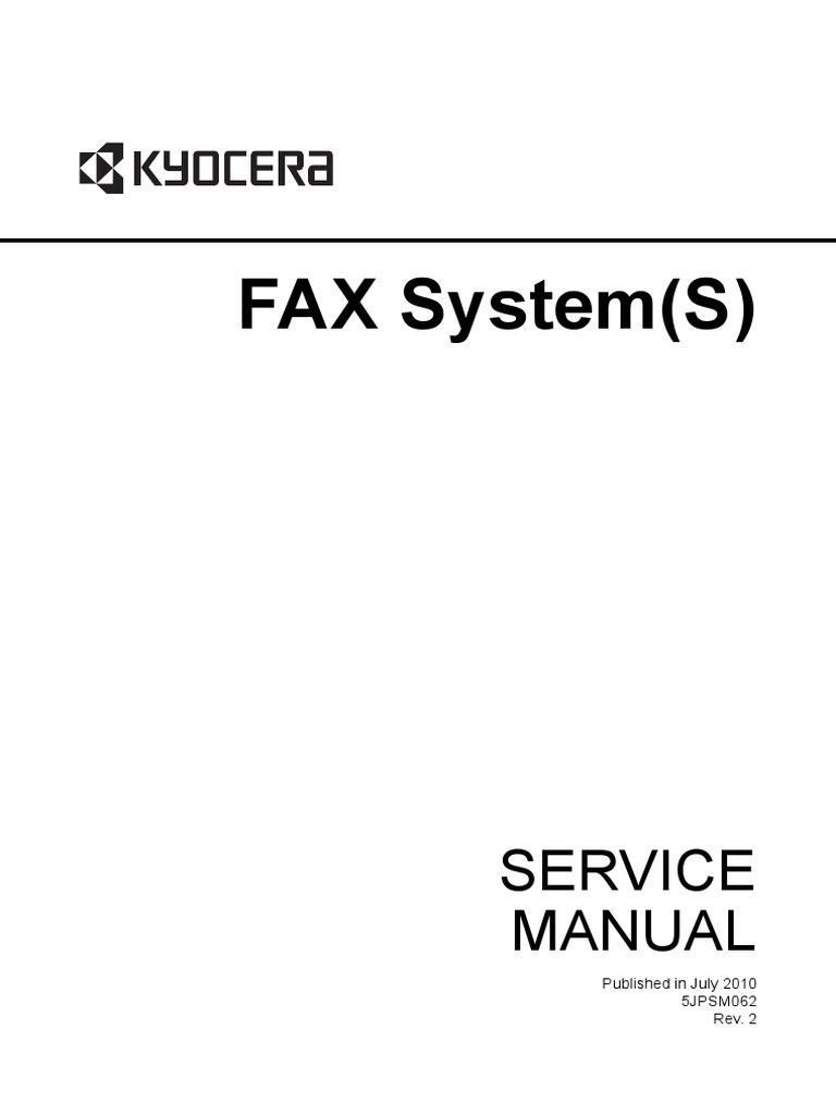 kyocera fax system l fax system k fax system m fax system n fax system p fax system q fax system r fax system s service repair manual parts list