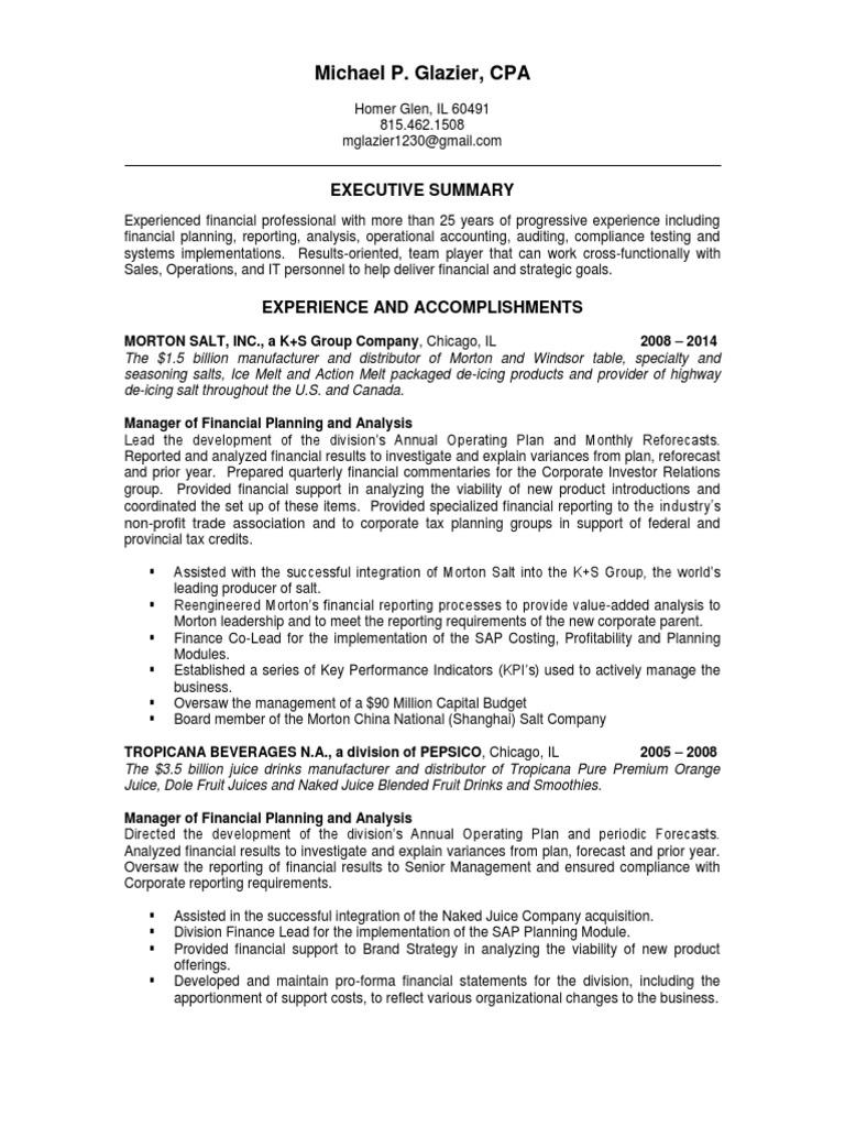 download vp financial planning analysis in usa resume john effrein