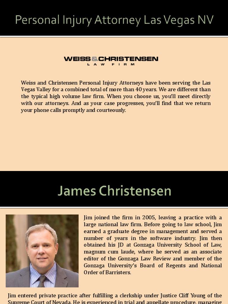 Personal Injury Attorney In Las Vegas Nv