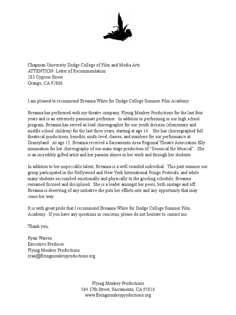 breanna white letter of rec docsharetips