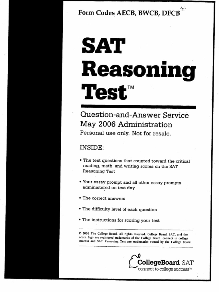 sat reasoning test essay prompts We have a collection of the new sat essay prompts from march 2005 till the most recent test released by if you took the november 2008 sat reasoning test.