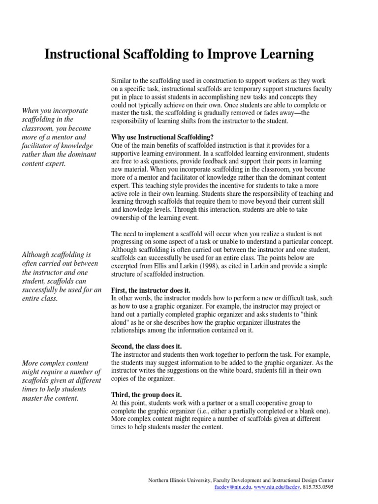 Download Instructional Scaffolding To Improve Learning Docshare