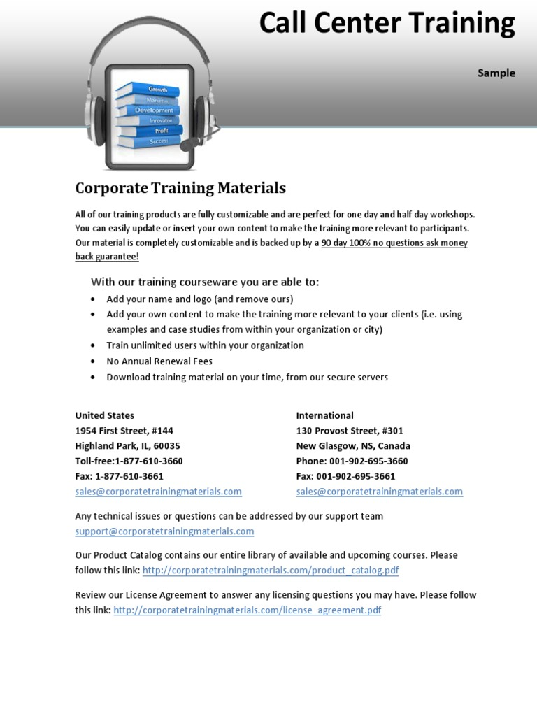 Download Call Center Training Sample - DocShare.tips