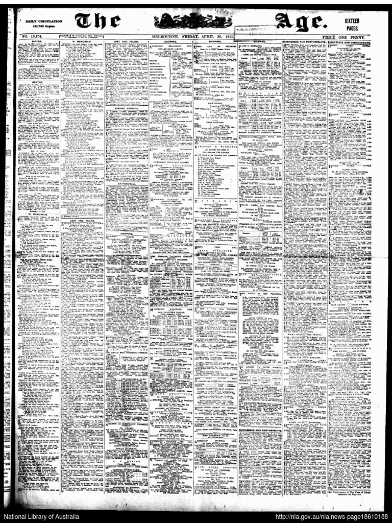 The AGE Friday 30 April 1915 - DocShare.tips 2b80969a8a