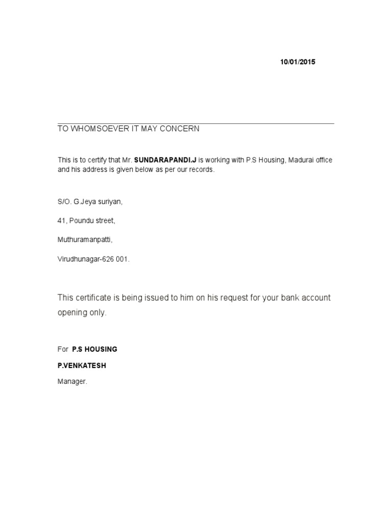 Address proof format docshare mitanshu Gallery