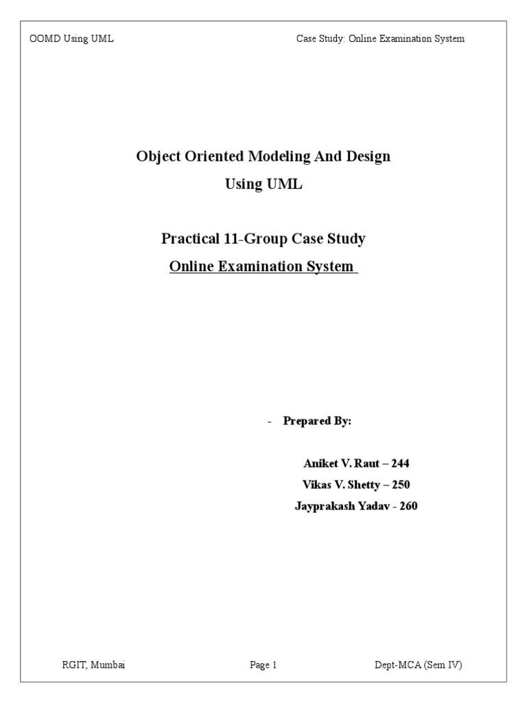 Uml online examination case study docshare ccuart Gallery