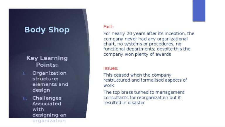 auto body shop organizational structure