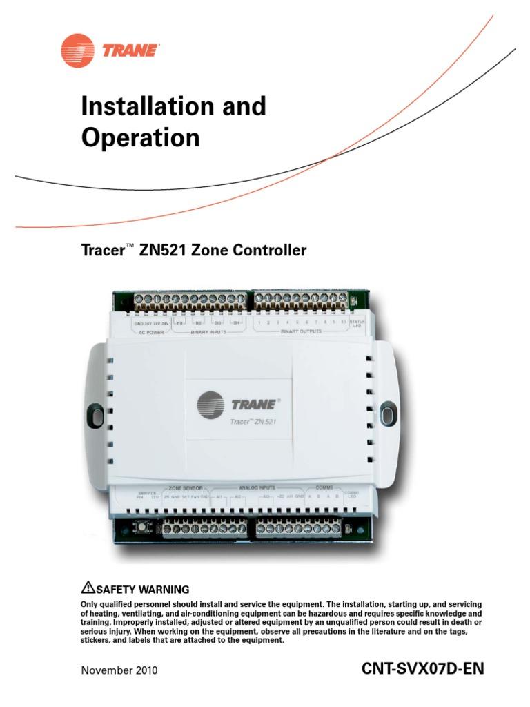 Manual Trane ZN521 - DocShare tips