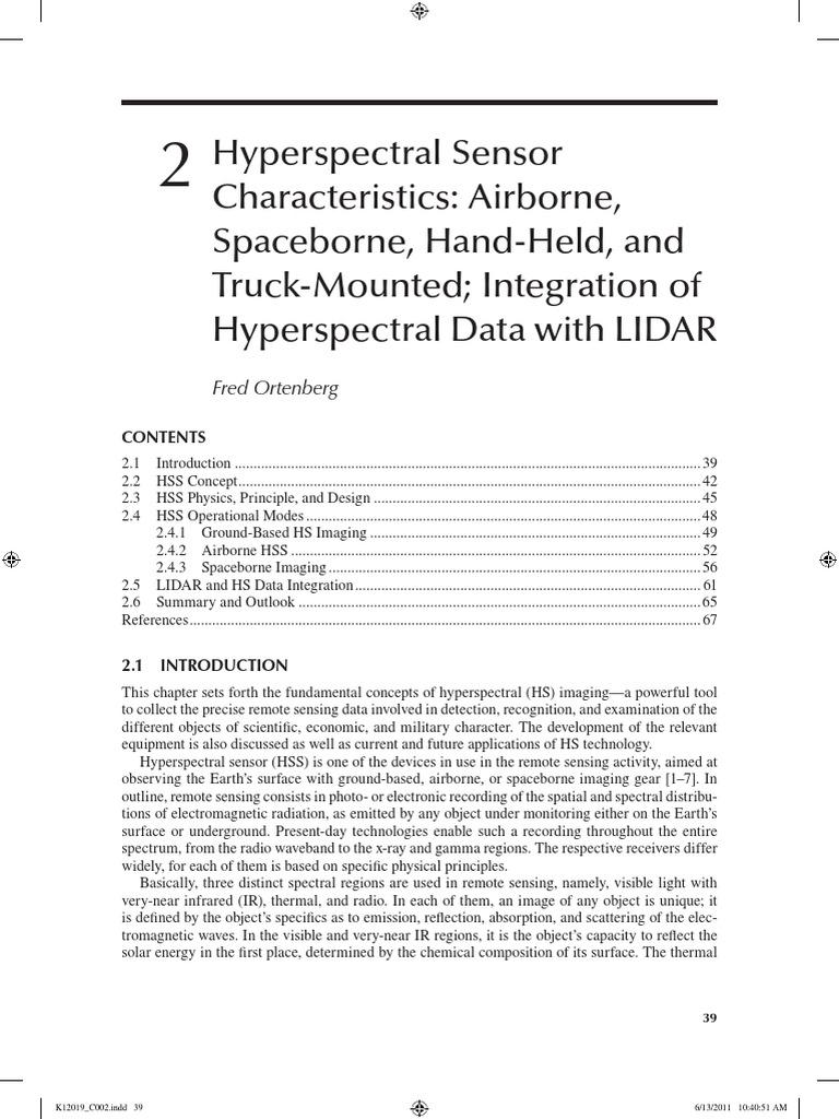 Download Hyperspectral Sensor Characteristics: Airborne, Spaceborne