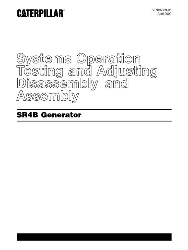 Download Caterpillar Parts Manual Standby Generator Set C15 Cat 3512 Genset Wiring Diagram Sr4b Adjusting