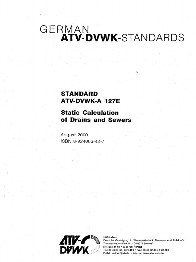 ATV-DVWK-A 127E Statical Calculation of Drains and Sewers - DocShare ...