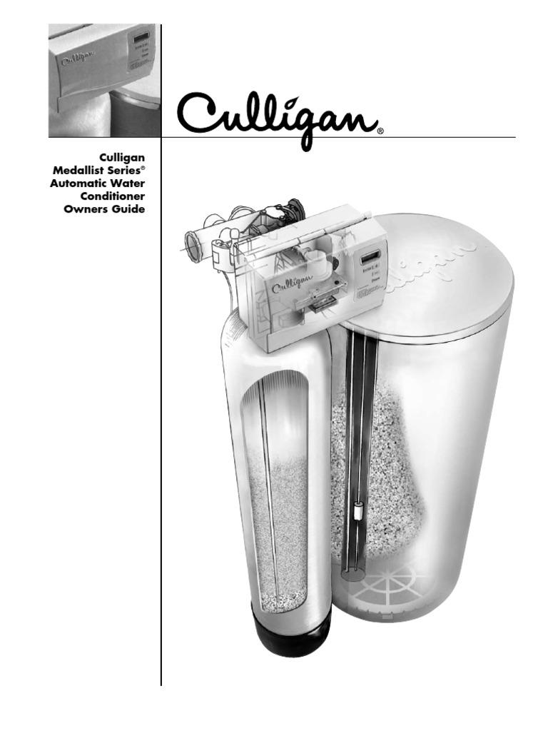 Culligan Medallist Series Water Softener Fr 2003 Rev F6 01016385