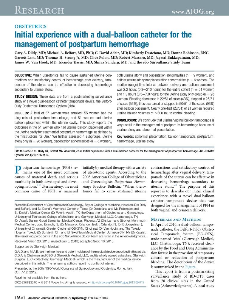 nursing diagnosis for postpartum hemorrhage
