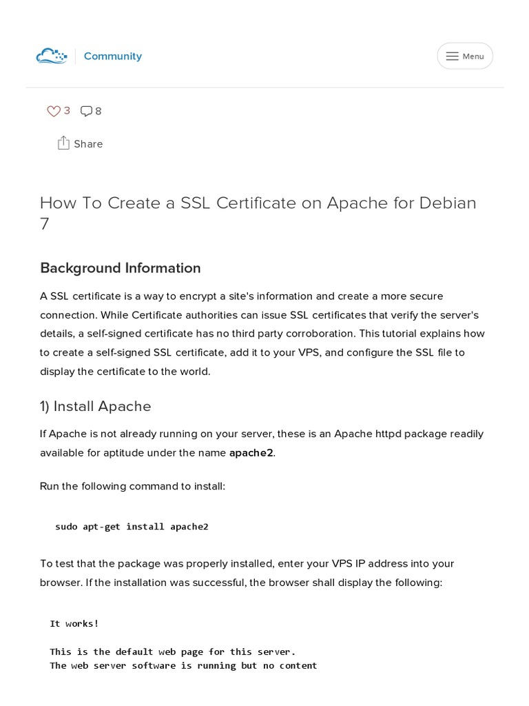 Download How To Create A Ssl Certificate On Apache For Ubuntu 1204