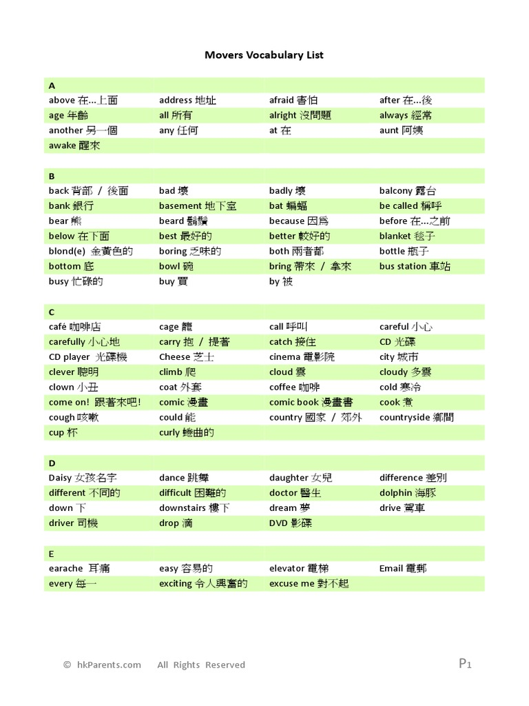 149680 yle movers word list Cambridge english flyers word list picture book cambridge fun for movers 4th edition student book cambridge yle tests movers 8 student book.