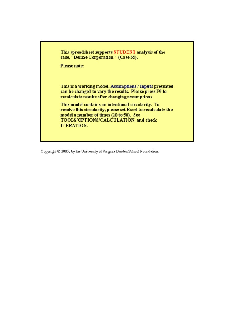 Deluxe Corporation Harvard Case Solution & Analysis