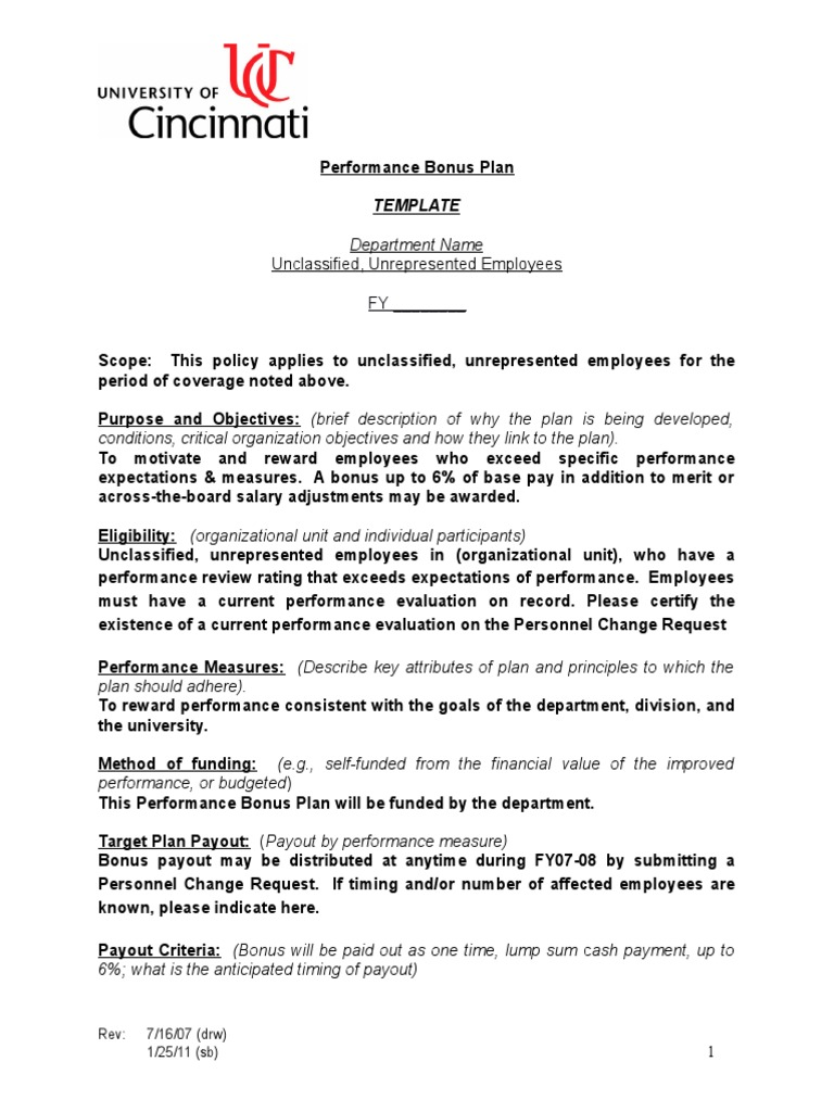 Performance Bonus Plan + KPIs - DocShare.tips