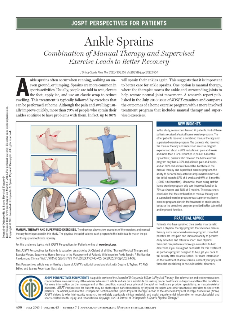 Ankle sprain physical therapy - Ankle Sprain