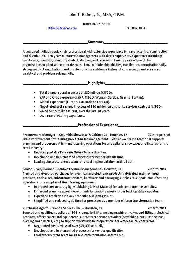 resume houston