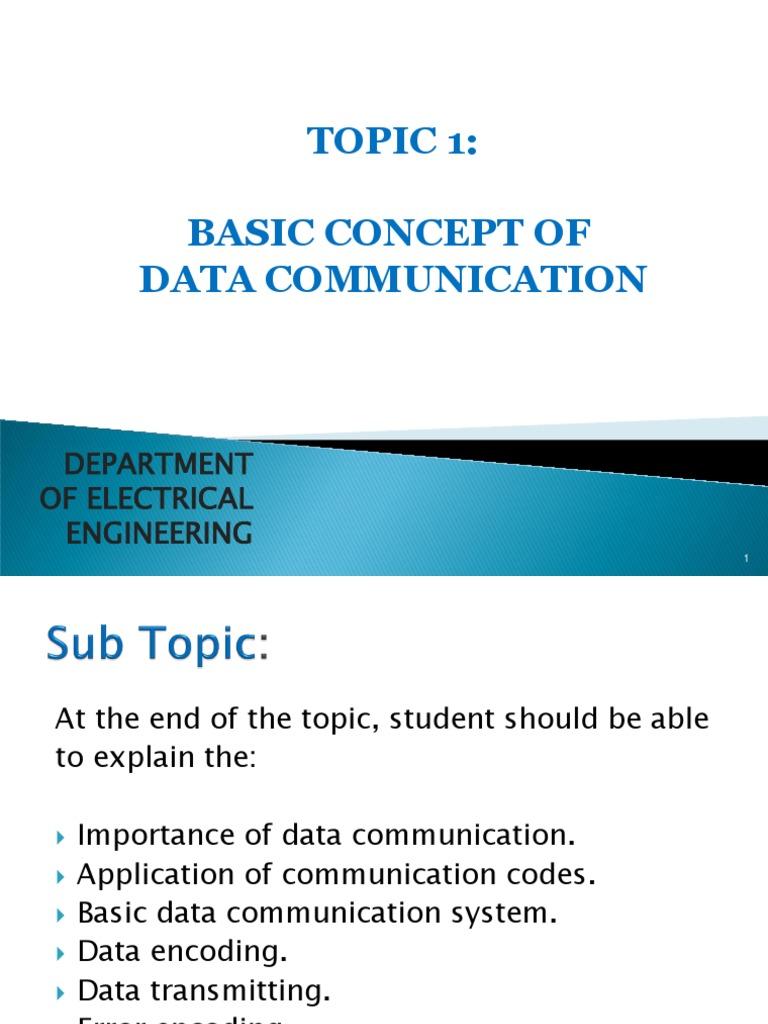 basics of data communication