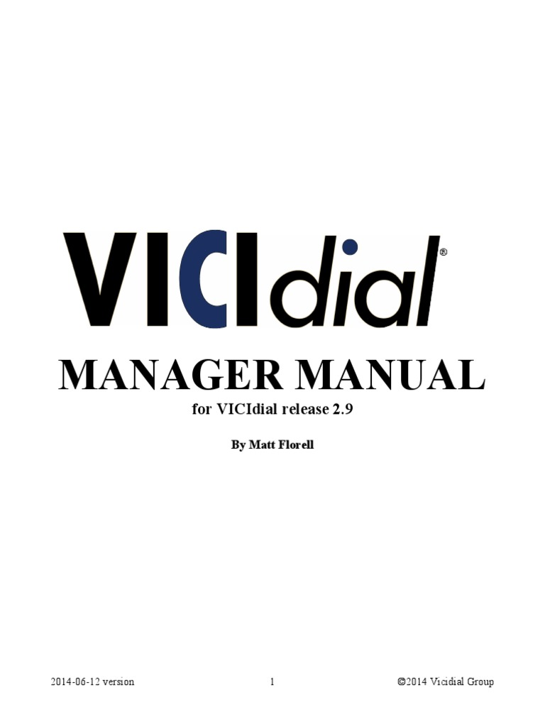 Manager Manual Vicidial - DocShare tips