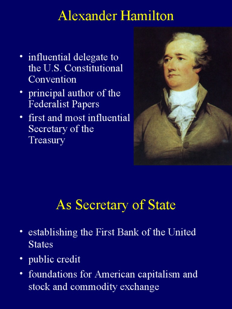 alexander hamilton views on government structure The federalist debates: balancing power between state and federal governments tools email the lesson introduction alexander hamilton (l) from the us national.