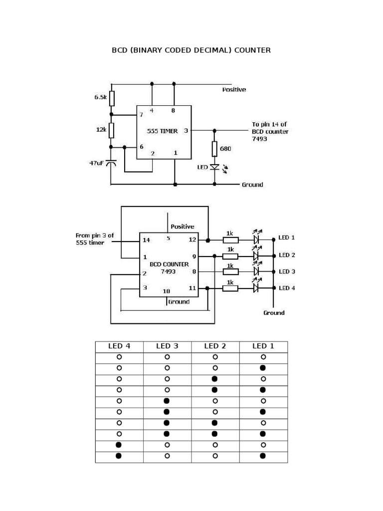 Download 555 Timer Ic Binary Counter Circuit Diagram Using