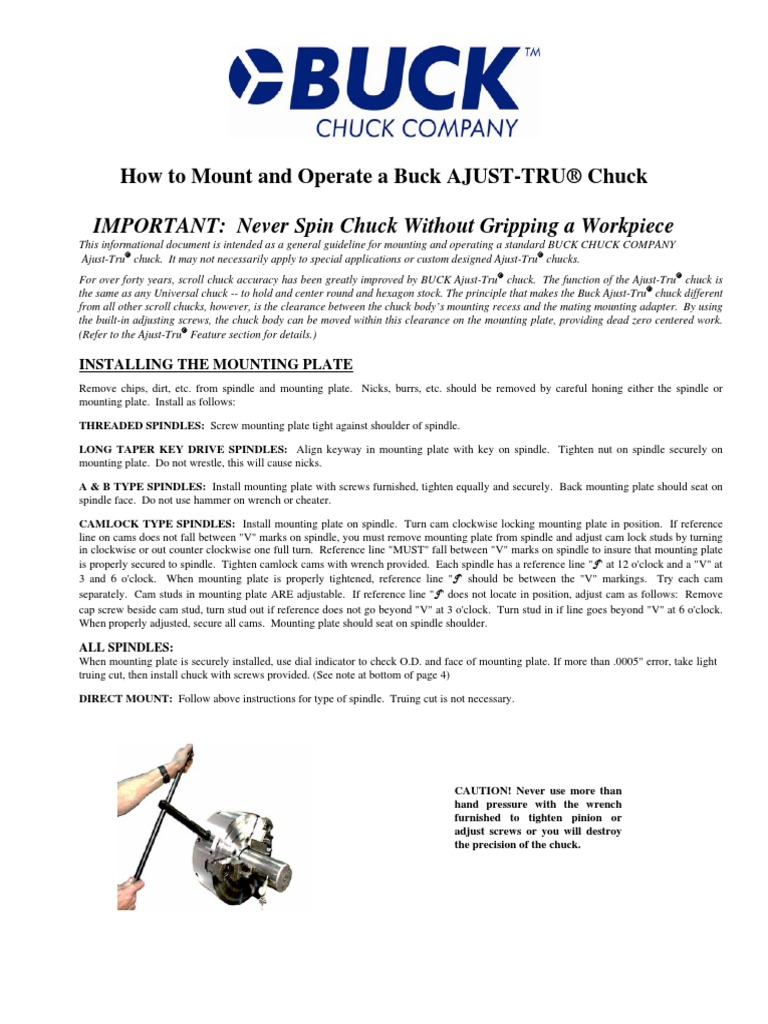 How to Mount and Operate Buck Adjust-Tru Chuck 781bd51b58