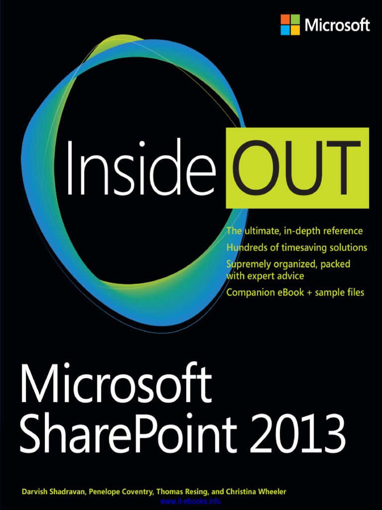 Microsoft SharePoint 2013 Inside Out - DocShare tips
