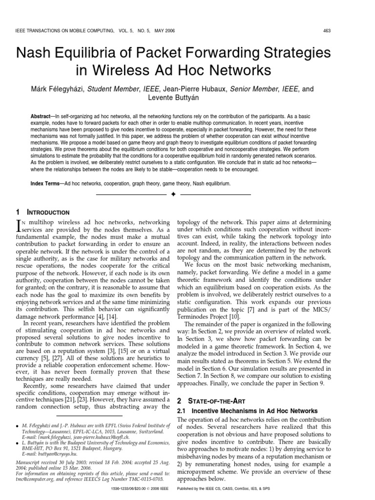 AD Hoc Wireless Networks: Architectures and Protocols Essay
