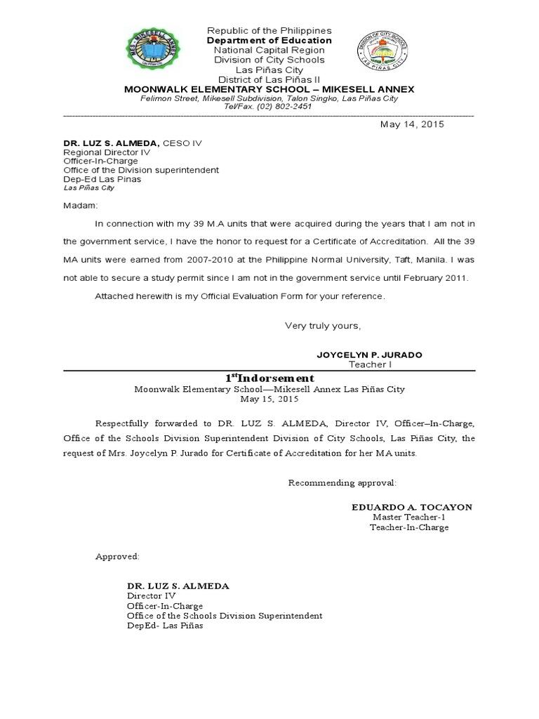 Sample letter for accreditation docshare spiritdancerdesigns Images
