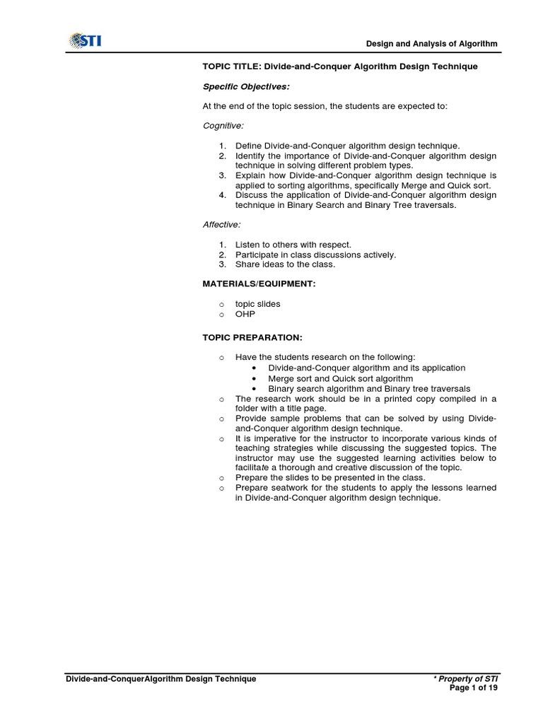MELJUN CORTES ALGORITHM Divide-And-Conquer Algorithm Design