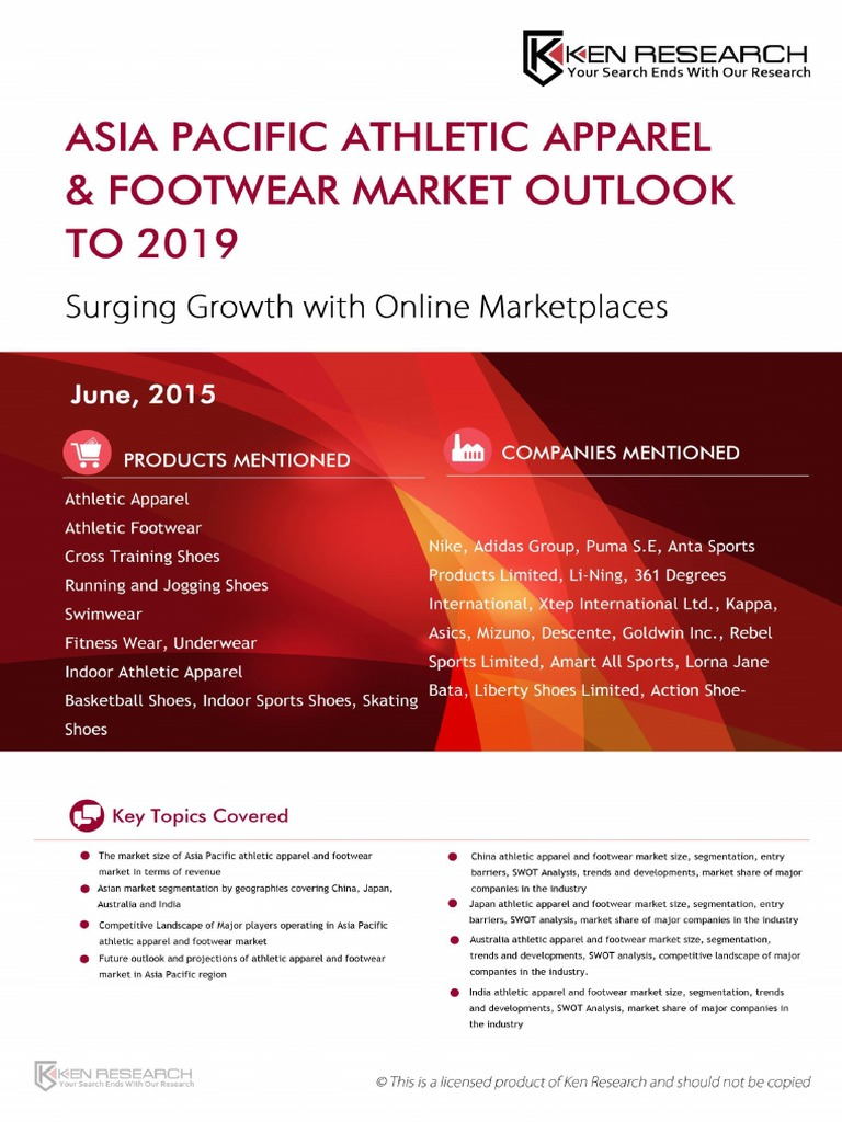 athletic footwear industry essay 1 athletic footwear industry 2 history of athletic footwear market • shape the sneaker as it's commonly referred to as has evolved in many forms such as shape, design, features, functionality .