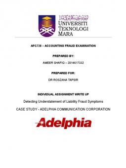 adelphia communications corporation scandal In 2002, adelphia communications corporation disclosed that it had previously unreported debt of over two billion dollars and would have to file for bankruptcy numerous litigations ensued, including one, adelphia communications corporation v.