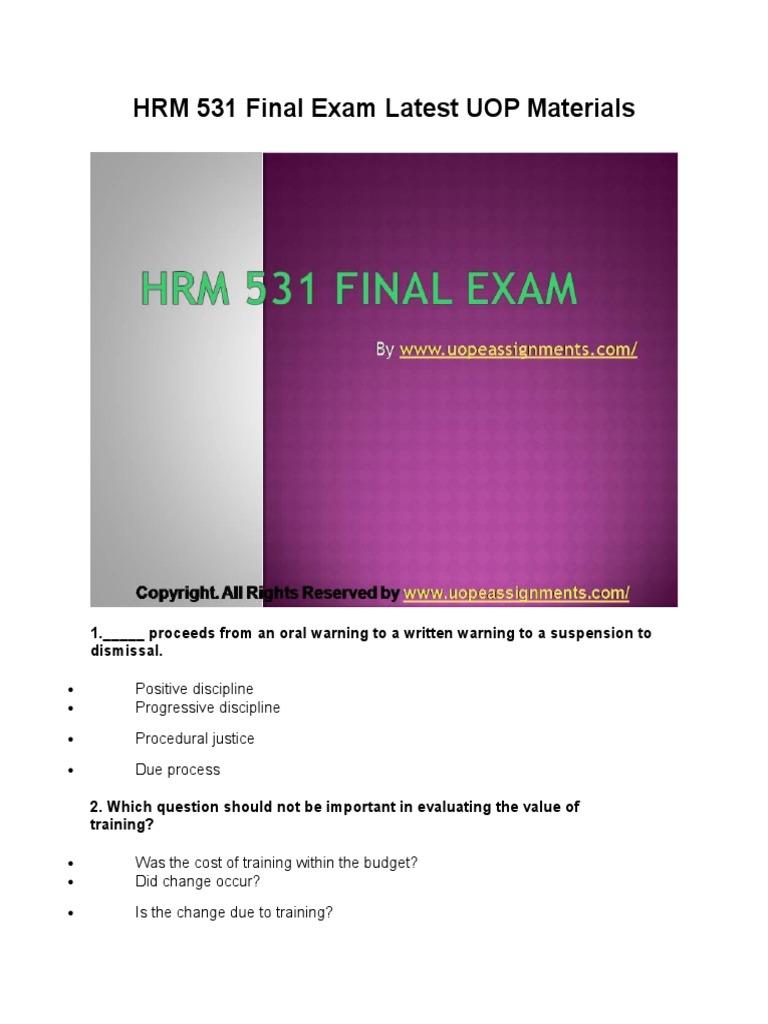 hrm exam
