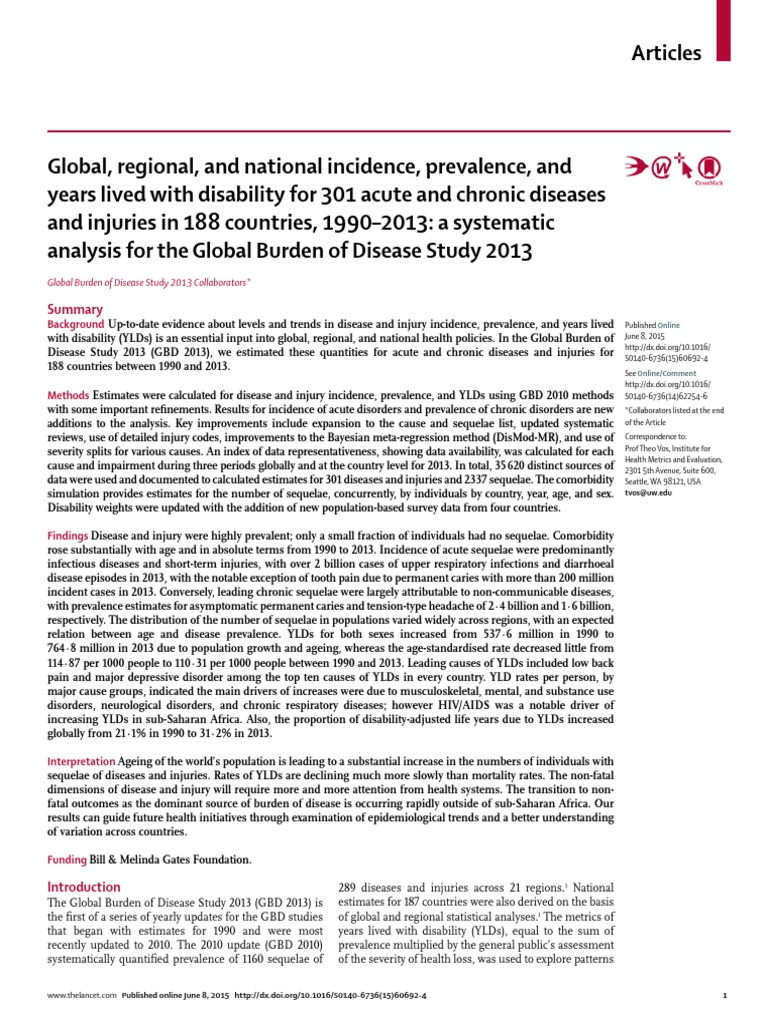 the definition of prevalence and incidence in covering the quantification of a disease The global burden of cerebrovascular disease and is now covering approximately one-third of the it outlines the estimated rates on incidence, prevalence.